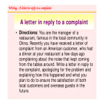 template topic preview image Reply To Restaurant Complaint Letter Sample