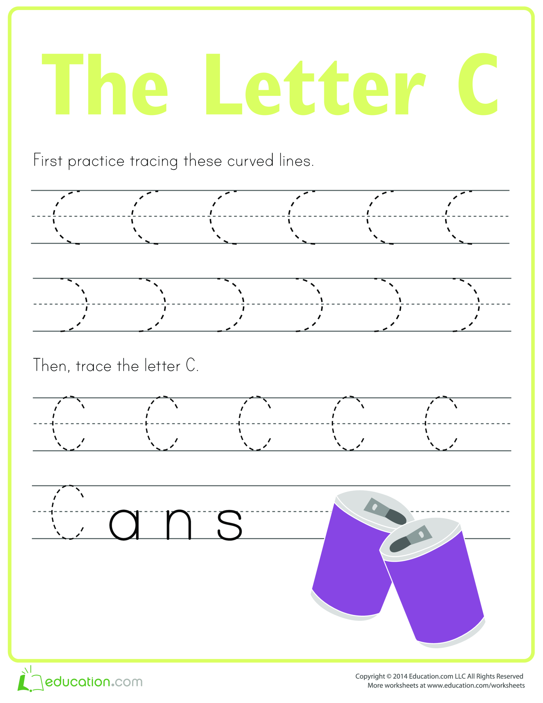 template topic preview image Practice to write letter C