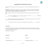 image Agreement For Extension Of Lease