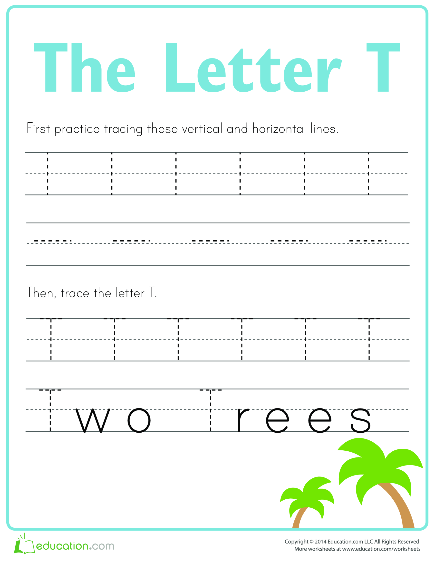 template topic preview image Learn to write letter T