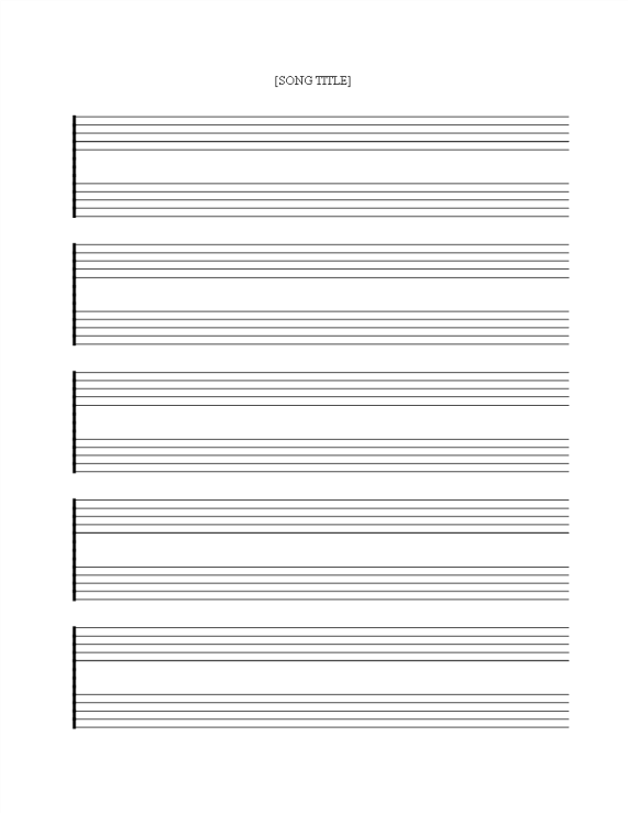 template topic preview image Free printable Music Staff Sheet 5 double lines