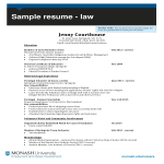 template topic preview image Law Internship Curriculum Vitae