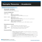 template topic preview image College Academic Resume