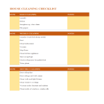 template topic preview image house cleaning checklist worksheet excel