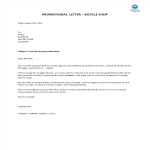 image Promotion sales letter bicycle shop