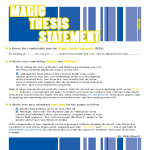 template topic preview image Magic Thesis Statement