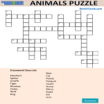 template topic preview image Animal Word Puzzle For Kids