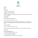 template topic preview image Sample Golf Caddie Supervisor Resume