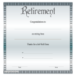 template topic preview image Retirement Certificate