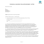 image Technical Assistant Appointment Letter