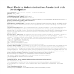 template topic preview image Administrative Assistant Real Estate Job Description