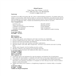 template topic preview image Front Office Administration Resume
