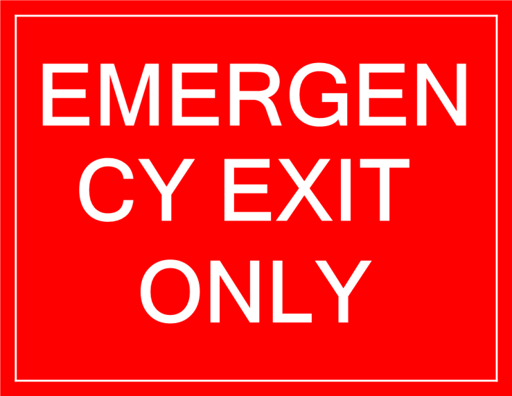 template topic preview image Temporary Emergency Exit sign