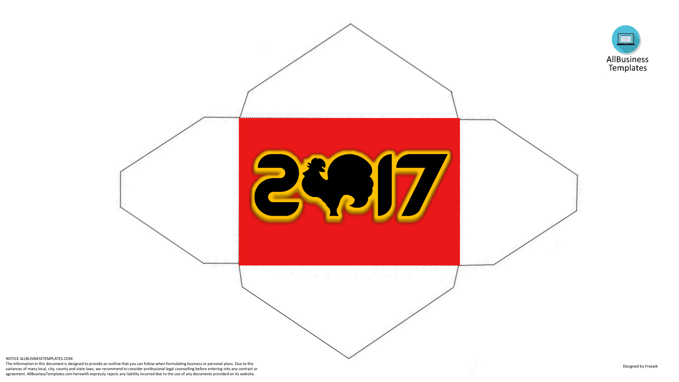template topic preview image Red envelope Chinese New Year Rooster sample