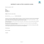 template topic preview image Maternity Leave Letter