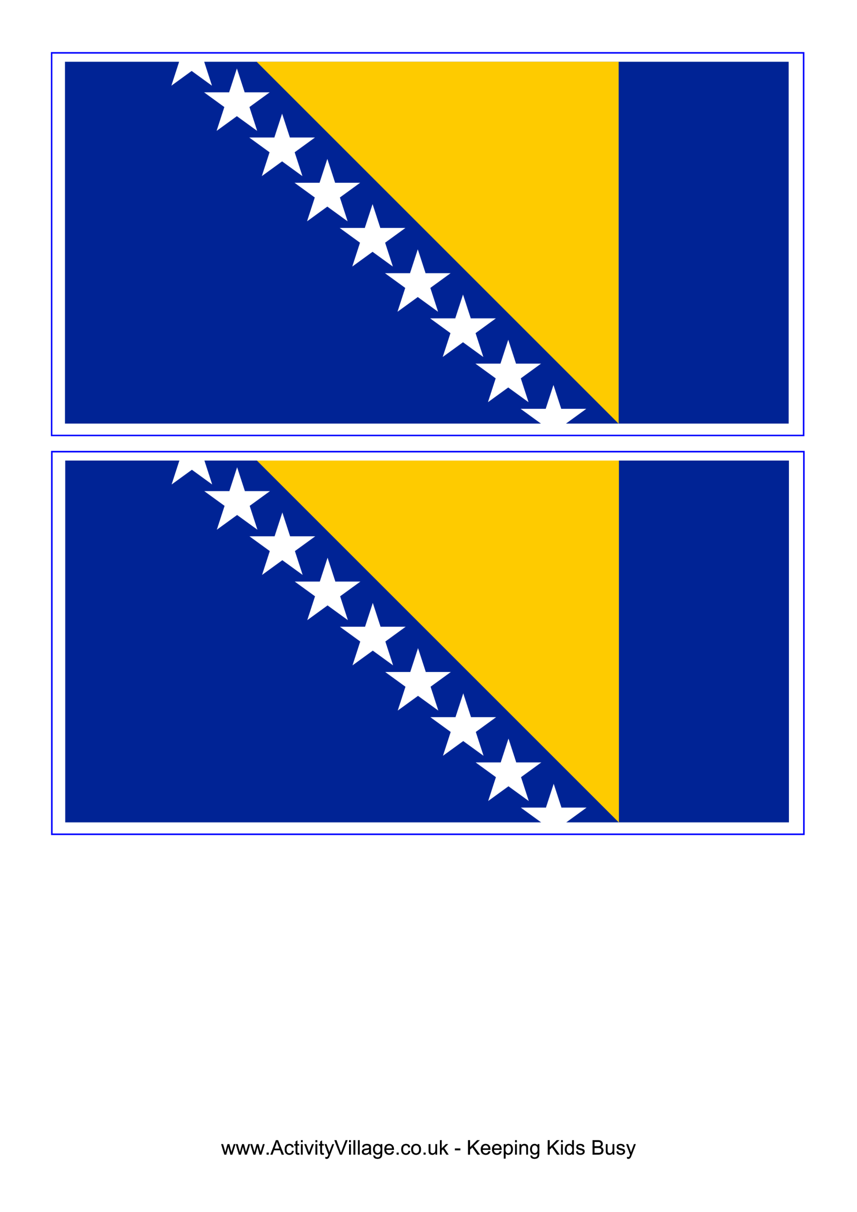 template preview imageBosnia And Herzegovina Flag