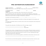 image Pre-Seperation Agreement