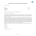 template preview imageProfessional Apology Letter for Behavior