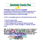 template topic preview image Transition Plan Template sample