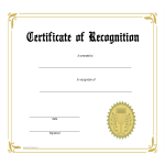 template preview imageCertificate of Recognition