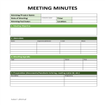 template topic preview image Minutes of meeting example