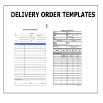 template topic preview image Delivery Order Template