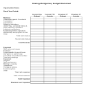 template topic preview image Nonprofit Budget Sheet