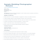template topic preview image Wedding Photographer Resume