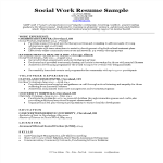 template topic preview image Social Work Resume