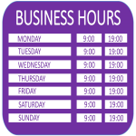 image Business Hours A4 template