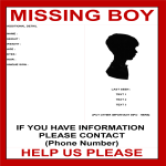 template topic preview image Missing Person Template Boy