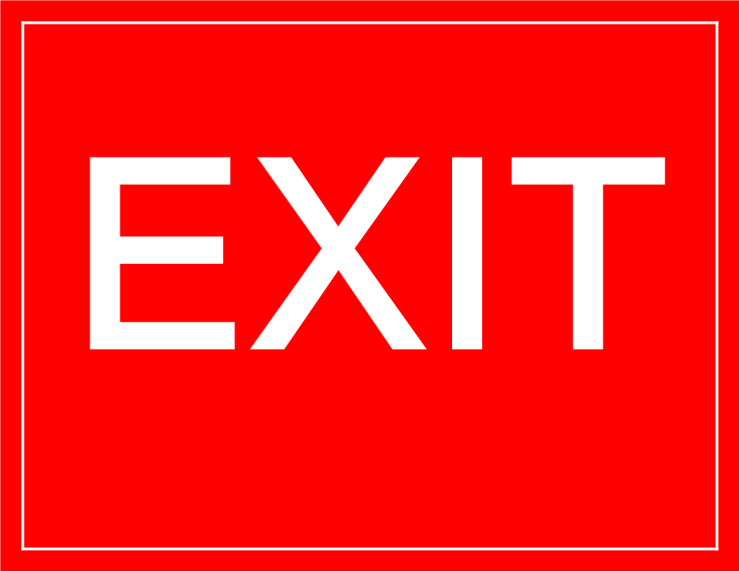 template topic preview image Temporary Exit Sign Model
