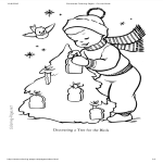 template preview imageCute Christmas Coloring Page