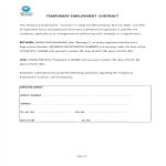 template topic preview image Temporary Employment Contract Template