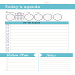 template topic preview image Daily Agenda To Do List Template
