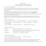 template topic preview image Experienced Resume Format For It Professionals