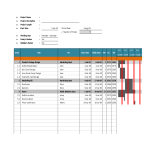 template topic preview image Gantt Chart Excel planner