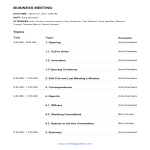 template topic preview image Business Meeting Agenda example