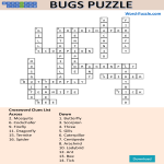 template topic preview image Bugs crossword puzzle template