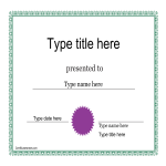 template topic preview image Personal Certificate Sample