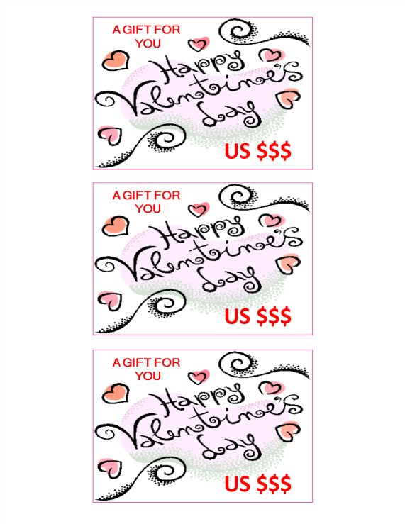 template preview imageCurly Valentine Gift Coupon