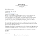 template topic preview image Data Analyst Cover Letter Sample