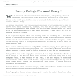 template topic preview image Funny College Personal Essay