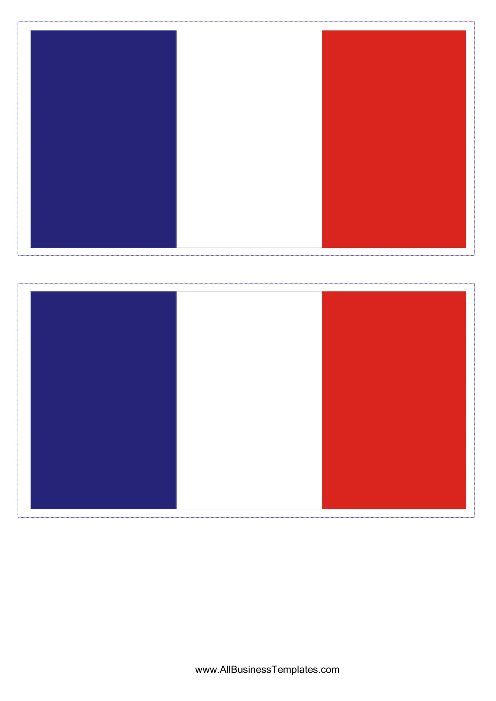 template topic preview image France Flag Template