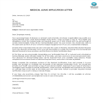 template preview imageMedical Leave Application Letter
