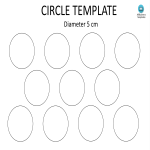 template topic preview image Circle template A4 5CM