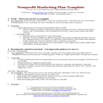 template topic preview image Non Profit Marketing Plan