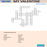 template topic preview image Valentine's Day Crossword Puzzle