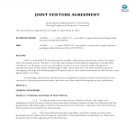 template topic preview image Joint Venture Agreement Property Ownership