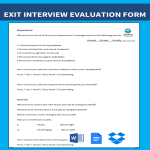 template topic preview image Blank Exit Interview Form